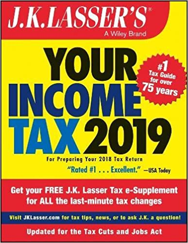 Jk lassers your income tax 2019 for preparing your 2018 tax jk lassers your income tax 2019 for preparing your 2018 tax return 1st edition fandeluxe Images