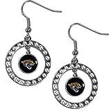 Siskiyou NFL Jacksonville Jaguars Rhinestone Hoop Earrings