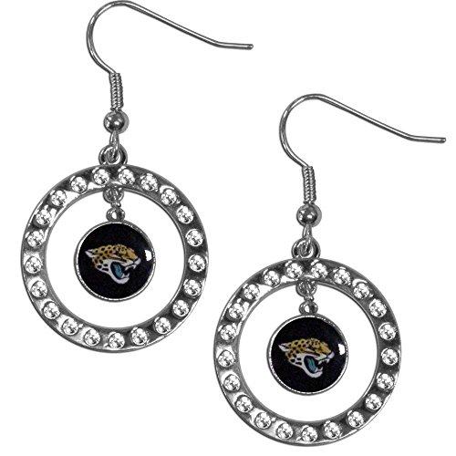 Nfl Hoop Earrings - Siskiyou NFL Jacksonville Jaguars Rhinestone Hoop Earrings