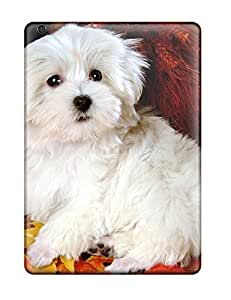 Ipad Cover Case - Maltese Puppy Protective Case Compatibel With Ipad Air