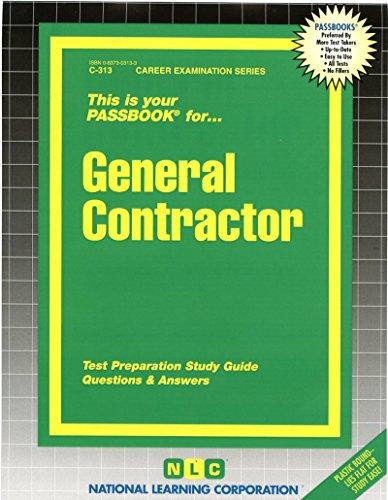 General Contractor(Passbooks) (Passbook for Career Opportunities)