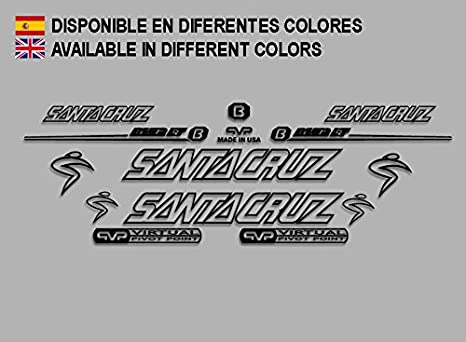 Ecoshirt TN-Suly-GUBU Pegatinas Santa Cruz Blur Lt F146 Vinilo Adesivi Decal Aufkleber Клей MTB Stickers Bike, Negro: Amazon.es: Coche y moto