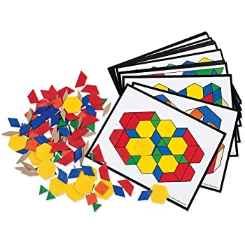 Amazon.com : School Smart Wooden Pattern Blocks - Set of 250 ...