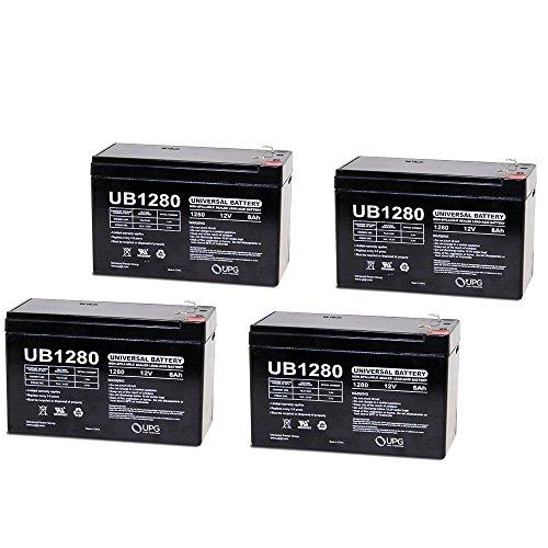 12V 8Ah Fire Alarm Battery Replaces 12V 7Ah Edwards EST 12V6A5 - 4 Pack (Lighting Outdoor Est)