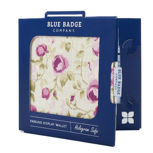 Blue Badge Company Roses Holder Hologram Safe Parking Permit Display Cover...