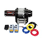 X-BULL 12V 4500LBS/2045kg Winch Wireles Boat Electric Steel Cable 2 Remote ATV (H)
