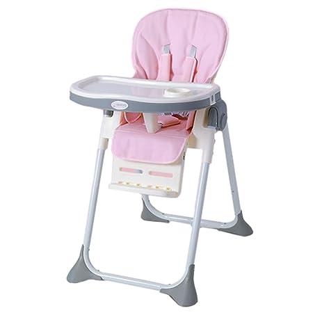 Trona Bebe, Silla Alta Ajustable y Plegable, para cenas de bebés y ...