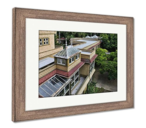 Ashley Framed Prints The Winchester Mystery House, Wall Art Home Decoration, Color, 34x40 (Frame Size), Rustic Barn Wood Frame, AG6535258