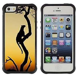 Suave TPU GEL Carcasa Funda Silicona Blando Estuche Caso de protección (para) Apple Iphone 5 / 5S / CECELL Phone case / / leopard big cat African wilderness sunset /