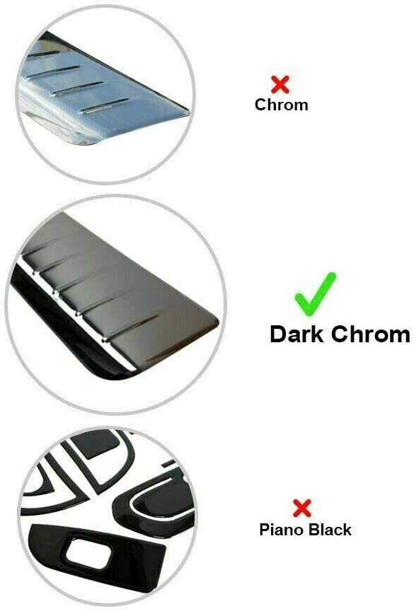 PASSAT 3C B7 ESTATE Stainless Steel BLACK Chrome Rear Bumper Protector Scratch Guard 2010-2014