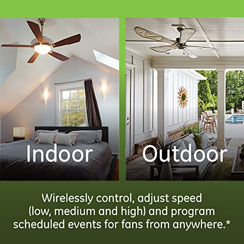 GE Enbrighten Z-Wave Plus Smart Fan Control, Speed ONLY, in-Wall, Includes White & Lt. Almond Paddles, Zwave Hub Required, Works with SmartThings Wink and Alexa, 14287 by GE (Image #2)