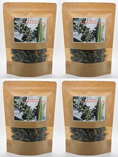 Price comparison product image Pack of 4 x 20 G. Screw Pine Screwpine PANDANUS Thai Dried Herb Leaves Fragrant Pandan HEALTHY DRINK By mewinshop