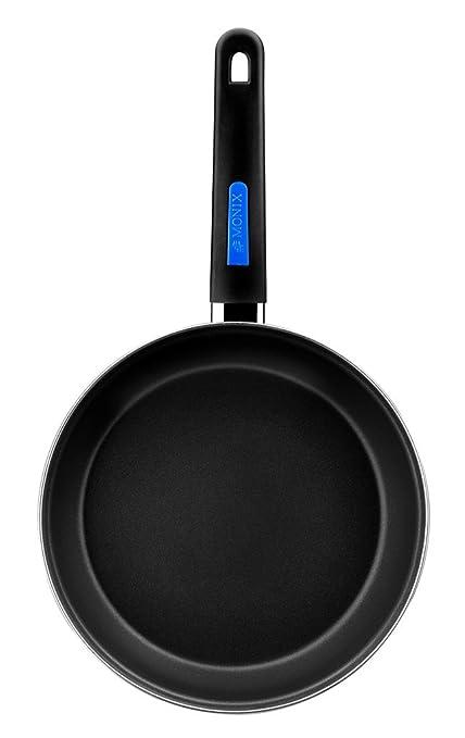 Monix Duna - Lote 3 sartenes 20, 22, 24 cm de acero esmaltado negro con antiadherente Teflon® Classic.