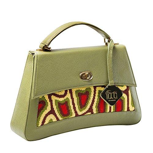 TATI Boduch bolso del diseñador, JASPER Colección, cuero genuino: verde, géneros de punto: verde