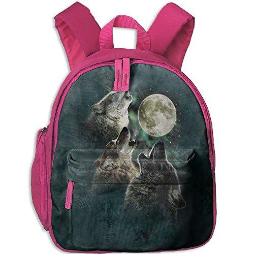 Mini School Bookbag Making With Three Wolves For Kindergarten Unisex Kids - Oxford Los Street Angeles