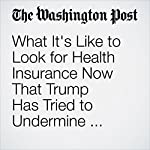 What It's Like to Look for Health Insurance Now That Trump Has Tried to Undermine Obamacare | Carolyn Y. Johnson