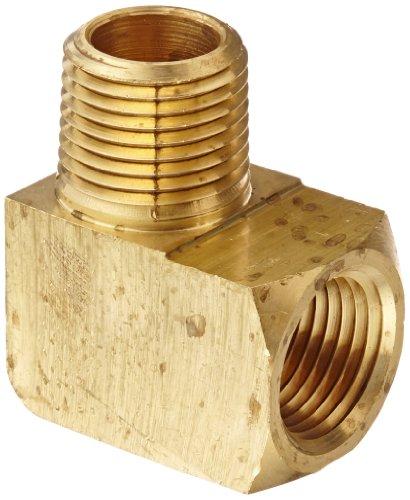 Npt 90 Degree Elbow (Eaton Weatherhead 3400X8 Brass CA360 Fitting, 90 Degree Elbow, 1/2