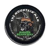 Badass Beard Care Beard Wax For Men - The Mountain Man Scent, 2 oz - Softens Beard Hair, Leaves Your Beard Looking and Feeling More Dense