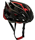 AWE AWESpeed FREE 5 YEAR CRASH REPLACEMENT* In Mould Adult Mens Road Racing Cycling Helmet 58-61cm Black Red Carbon