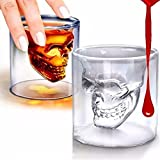 nesting espresso cups - Ayutthaya Shop Magic Transparent Glass Skull Mugs Coffee Cups Bilayer Bar Wine Beer Drinkware Gift Tea Cup