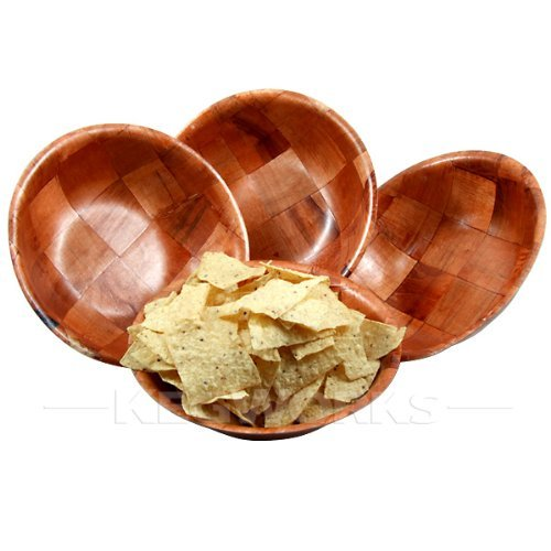 ChefGiant Woven Wood Snack 'n' Salad Bowls 10
