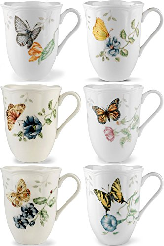 (Lenox Butterfly Meadow Mugs, Assorted Set of 6)