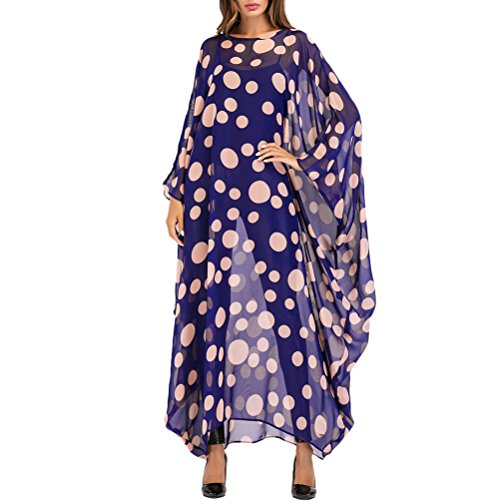 Lungo Style Moda Donna Oversized Blu Abbigliamento Turco Islamico Abito TAAMBAB Boho Abaya Elegante Caftano Caftano amp;rosa per OEfywq8