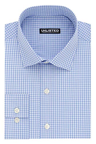 Kenneth Cole Unlisted Men's Slim Fit Check Spread Collar Dress ()