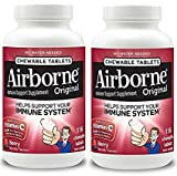Airborne Berry Chewable Tablets 1000mg Vitamin C – 116 Count per Bottle (2-Pack for 232 Tablets) For Sale