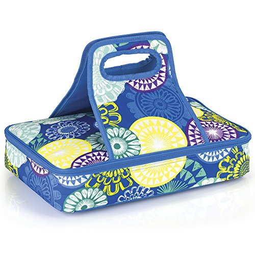 Floral Medallions Insulated Casserole Carrier Travel Carry Bag
