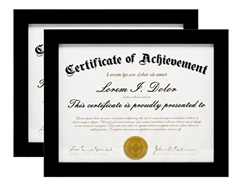 LAST G 2-Pack, 8.5x11 Document Frame by To Display 8.5 by 11 Inch Certificate Frames Standard Paper Frame Black