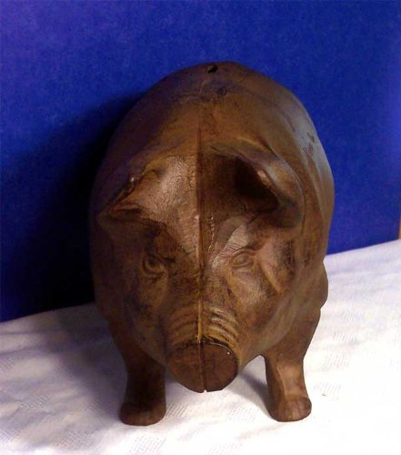 Rust Piggy Bank X Large Door Stop Garden Cast