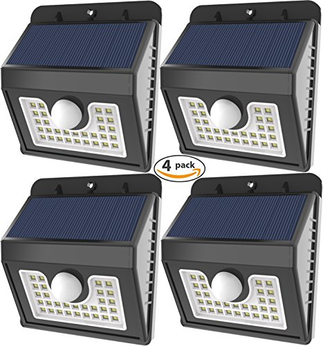 80 Led Solar Flood Lights Security Pir Sensor Motion