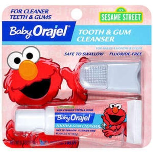 Baby Orajel Fluoride-free Toothpaste - Fruit (.7 Oz.) (Pack of 3)