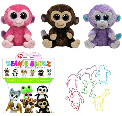 175db813cd0 Amazon.com  TY Beanie Babies Monkeys  3 Beanie Boo Friends Party  Coconut