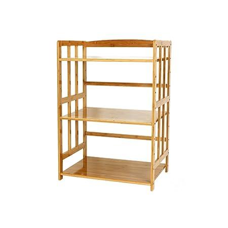LXYFMS Rack de bambú de 3 Capas, Rack de Almacenamiento de ...