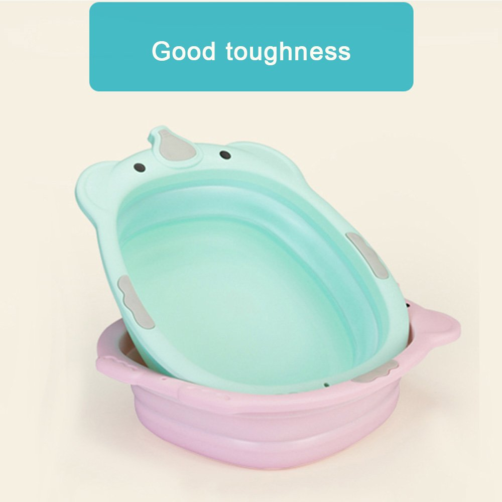 Water Storage Frosted Basin Portable Folding Washbasin PP Plastic and Silicone Foldable Tub for Outdoor Travel Multi-Purpose Baby Collapsible Washbasin