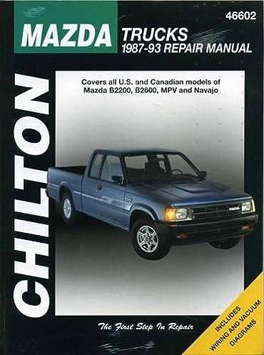 mazda trucks 1987 93 haynes repair manuals chilton rh amazon com 2000 Mazda B3000 SE V6 Truck 2013 Mazda Pickup Truck