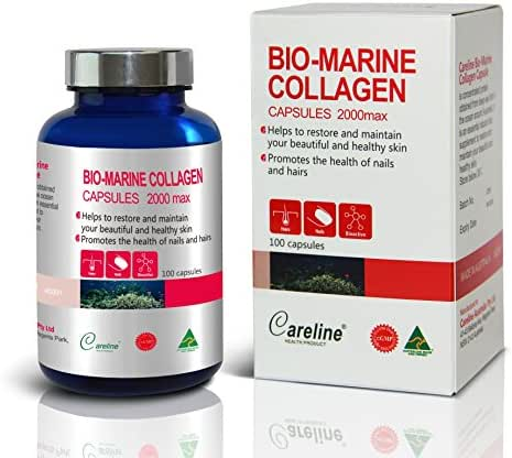 Careline Bio-marine Collagen 2000max 100 Capsules Made in Australia