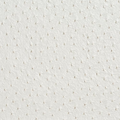 Mitchell Leather Furniture - G017 White Emu Ostrich Faux Leather Vinyl By The Yard From Mitchell Faux Leathers