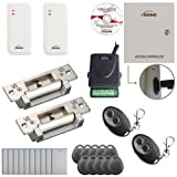 Visionis FPC-6533 Two Door Access Control Electric Strike Fail Safe Fail Secure TCP/IP RS485 Wiegand Controller Box Software Outdoor White Card Reader EM Compatible 10000 User Wireless Receiver Kit