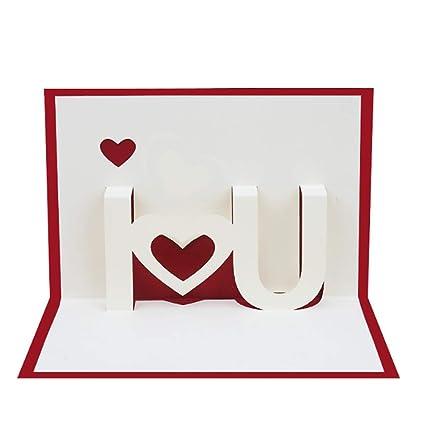 Amazon rockrok 3d i love you pop up greeting cards valentines rockrok 3d i love you pop up greeting cards valentines day lover christmas birthday cards m4hsunfo