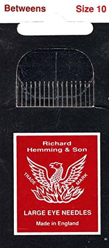 Colonial Needle 20 Count Richard Hemming Between Quilting Needles, Size 10