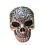 925 Silver Filigree Skull Ring jewelry Art Thailand A16 Size 9.5 US ( 19.4 mm )