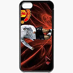 Personalized iPhone 5C Cell phone Case/Cover Skin Ronaldo uefa champions league english premier the fa portugal football federation manchester united Black