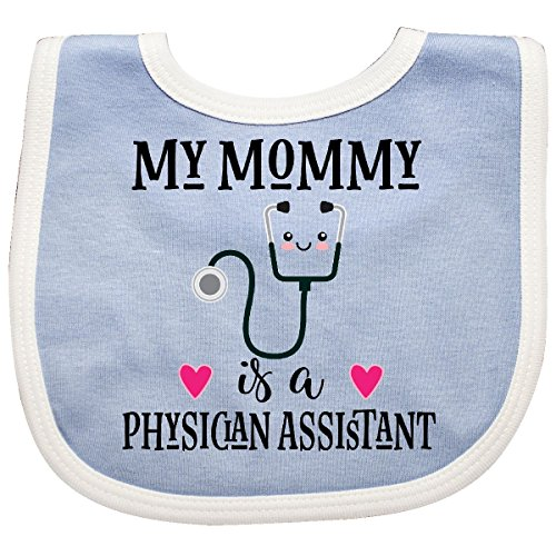 Inktastic - Physician Assistant PA Mom Baby Gift Baby Bib Blue/White 2d889