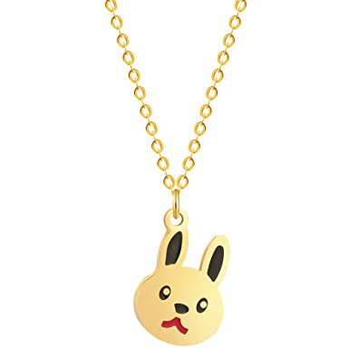 Rabbit cute animal necklace silver gold bunny pendant chain necklace rabbit cute animal necklace silver gold bunny pendant chain necklace birthday pet lover gift for women aloadofball Choice Image