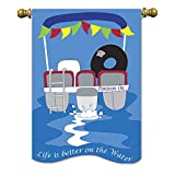 Magnolia 01712 Pontoon Boat Life is Better On The Water Garden Flag, 13″ x 18″