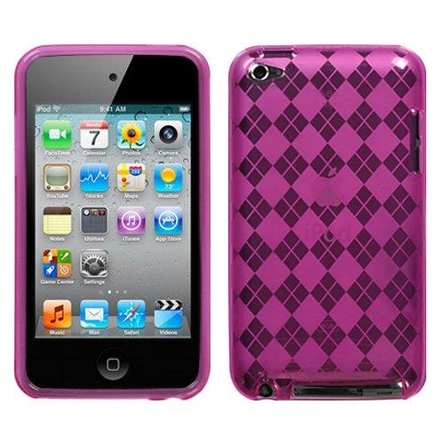 MYBAT Unique Protective Case for iPod touch 4 (Hot Pink Argyle) (Diamonds Hot Argyle Pink)