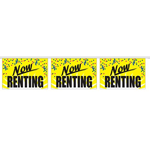 Now Renting String Pennants (60 ft. String w/ 20 18 x 12 in. (Panel Pennants)
